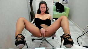 Hot Teen Masturbating On Chair