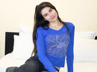 18 petite white female black hair blue eyes JenniferAzure